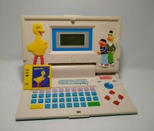 Vintage Vtech Sesame Street Super Animated Talking Computer with game.