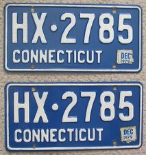 Connecticut 1979 License Plate PAIR - HIGH QUALITY # HX-2785