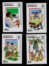 DOMINICA  SCOTT# 896-899  MLH  DUKE OF EDINBURGH AWARDS, 1984
