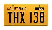 American Graffiti | Screen Accurate | THX 138 | Metal Stamped Prop License Plate