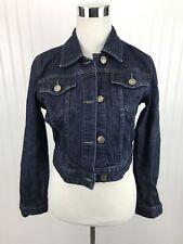 The Limited Denim Jean Jacket Womens Size Medium Short Shorty Cotton Button