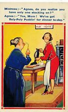 POSTCARD  COMIC   HUMORESQUE  Series  No  2726    Stockings   Roly Poly Pudding