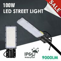 100W LED Road Street Flood Lights Garden Spot Lamp Head Outdoor Yard White 6500K