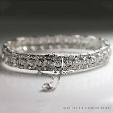 Cut Diamond Platinum Bracelet Art Deco Lady'S Old European