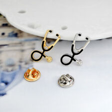 Hot Medical Men Women Enamel Stethoscope Doctor Nurse Brooches Pin Collar Badge