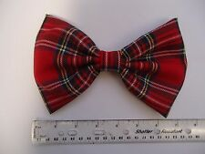 "EXTRA LARGE-Tartan Rosso Cane Papillon / CANE COLLARE Accessorio-DOG REGALO - 7 ""X 5"""