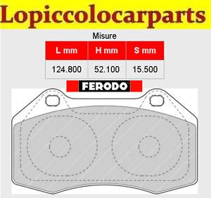 FCP1667H Pastiglie Brake pads Ferodo RACING DS2500 ABARTHPunto EVO ( BREMBO )