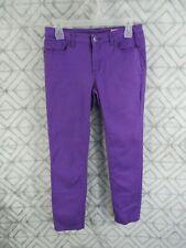 Chor Pants Size 7 Juniors Purple Flat Front Button Zipper Five Pocket Belt Loops