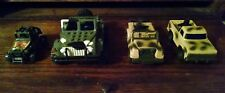 Vintage ARCO Military friction toys & plastic Jeeps LOT X4 for parts or repair