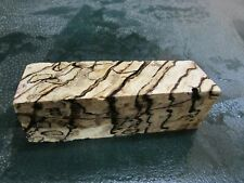 SPALTED HACKBERRY DELUXE KNIFE BLOCK/SCALES/ CALLS/ PEN BLANKS--H---30