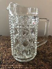 Vintage Crystal Cocktail Mixing Glass Pitcher With Handle Mint Classic