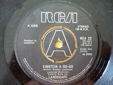 LANDSCAPE = EINSTEIN A GO-GO / NEW RELIGION - EXCELLENT VINYL - RCA STEREO 1981