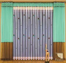 Gardinen SET LUCYLA modern 600/250 Ferig-Gardine grün braun weiß Wohnzimmer