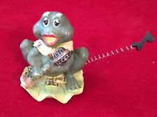 """VINTAGE Miniature PORCELAIN FROG FIGURINE with Microphone 2"""""""