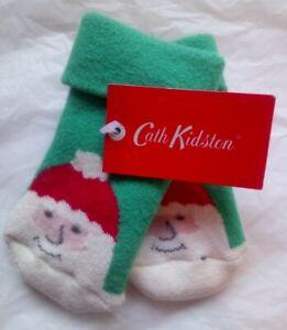 CATH KIDSTON CHRISTMAS BABY SOCKS ONE SIZE SANTA ADORABLE BNWT