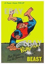 POWER PIN-UP Print - BEAST B X-Men Vintage Artwork Marvel UK Distribution
