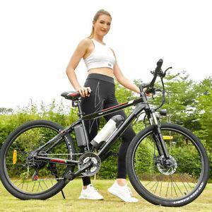 WINICE Elektrofahrrad 26'' Elektrisches Mountainbike Fahrrad EBike 350W 21 Gänge