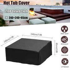 1×Waterproof Hot Tub Cover Spa Cap Pool Cover Lid Shield Guard Anti-Uv Protector