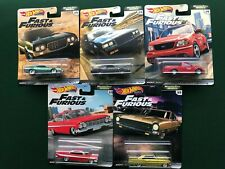 Hot Wheels Premium Fast & Furious Motor City Muscle Ford Buick Chevy USA Set