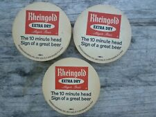 Vintage Lot of 10 Rheingold Extra Dry Beer Coasters (New Old Stock)