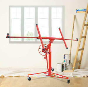 11FT Drywall Panel Hoist Dry Wall Rolling Caster Lifter Construction DW11