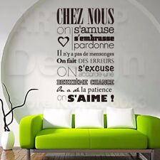 Art Design Home Decoration Vinyl French Rules Wall Sticker Removable House Decal