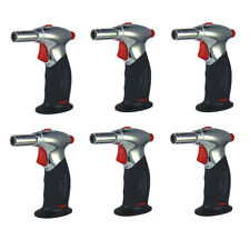 Turbo Blue Jumbo Pistol Torch Dual Flame Lighter - Windproof Flame - 6 Pack