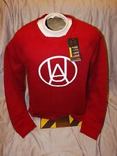 NWT MENS UNDER ARMOUR CRIMSON RED WHITE STORM LOOSE FIT WORKOUT SWEATSHIRT SMALL
