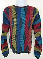 Tundra Canada Sweater Colorful BIGGIE 90s Hip Hop Textured Argyle Size XL