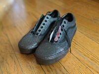 Vans Glitter Purple Shoes Sneakers Size 5.5 Men's Women's Size 7