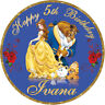 Belle Beauty and the Beast  Personalised Edible Image REAL Icing Cake Topper