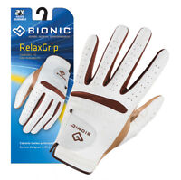 Bionic Golf Glove - RelaxGrip - Womens Left Hand - White - Leather palm - Small