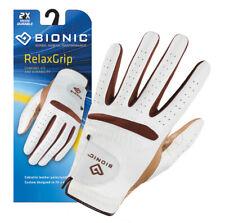 Bionic Women's RelaxGrip Left Hand Golf Glove, White/Caramel, Small