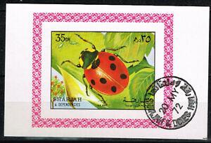 Sharjah Fauna Insects Ledybug Souvenir Sheet 1972