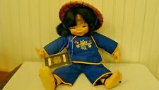 1982 Chopstick Kids Mieler Asian Doll w/British HK Passport Millel Jacobsen