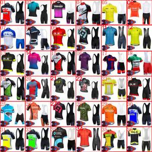 Mens Cycling Jersey Bib Shorts Set MTB Bike Outfits Bicycle Short Sleeve Uniform