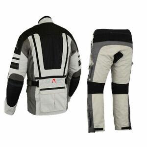 Motorradkombi Biker Motorrad Textil Kombi wasserdichte Jacke und Hose Gr M-5XL