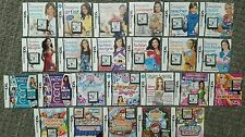 Nintendo DSi Girl/Fashion/Life Simulation Games Bundle - 24 Games + Instructions