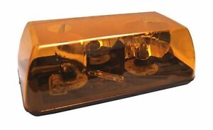 "Grote 76473 Emergency Rotating Strobe Light 15-3/4"" Yellow 24V USA MADE"
