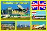 Manchester Aéroport - Souvenir Nouveauté Aimant de Réfrigérateur - Drapeau /
