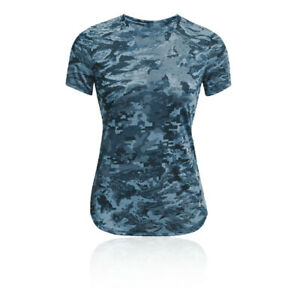 Under Armour Womens Breeze T Shirt Tee Top Blue Sports Running Breathable