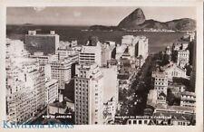 Postcard RPPC Avenida Rio Branco E Castello Rio de Janeiro Brazil