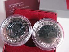ÖSTERREICH 2013 25 EURO NIOB SILBER MÜNZE COIN - TUNNELBAU -