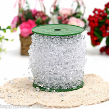60m/roll Clear Crystal Acrylic Bead Garland Wedding Centerpiece Floral Decoratio