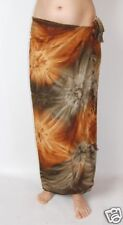 NEW UNISEX LADIES MENS TIE DYE BROWN SARONG PAREO WRAP LONG COVER UP BNIP/ sa200