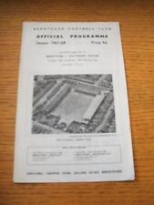 26/12/1967 Brentford V Southend United (leggermente piegati). NO difetti evidenti, UNL
