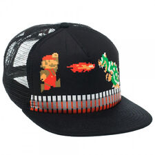 NEW Nintendo SUPER MARIO & BOWSER SNAPBACK HAT Mens Trucker Cap Adult NES Era