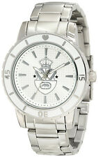 Marc Ecko Rhino Tennis Whites Stainless Steel Women's Boyfriend Watch New