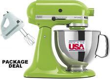 KitchenAid Stand Mixer tilt 5-Quart ksm150psga Artisan Green + Free Hand Mixer