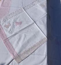 LAURA ASHLEY Kids - SINGLE  cover set - White Butterfly Design Duvet & Pillow Ca